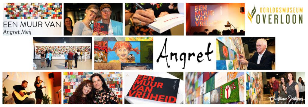 Gisteren is de expositie van Angret Meij geopend in het oorlogsmuseum in Overloon.  Angret heeft veel mensen gevraagd wat vrijheid voor hun betekende. Dat vertaalde ze terug in een schilderijtje van 10x15. Alle paneeltjes bij elkaar vormen een geheel; een muur van vrijheid. Hierover heeft ze ook een boek gemaakt wat deze middag is gepresenteerd. Trots ben ik natuurlijk op de foto's die erin staan, die ik van Angret heb gemaakt. De muur is t/m 18 oktober 2019 in het oorlogsmuseum te bewonderen.
